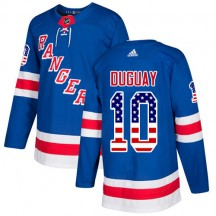 Ron Duguay New York Rangers Adidas Youth Authentic USA Flag Fashion Jersey - Royal Blue